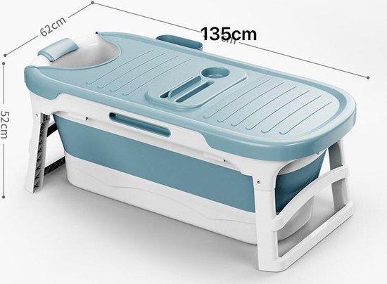 Nolad opvouwbaar ligbad lichtblauw - Zitbad voor volwassenen - afmetingen - www.ZitBad.nl