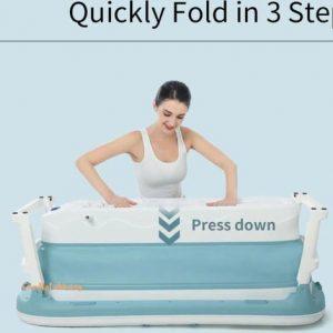 Nolad opvouwbaar ligbad lichtblauw - Zitbad voor volwassenen - badkuip volwassenen - www.ZitBad.nl