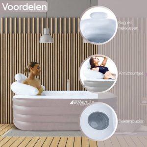 Opblaasbaar Ligbad Voor Volwassenen - Zitbad Voor Volwassenen - Hoofdsteun - ZitBadXL.nl