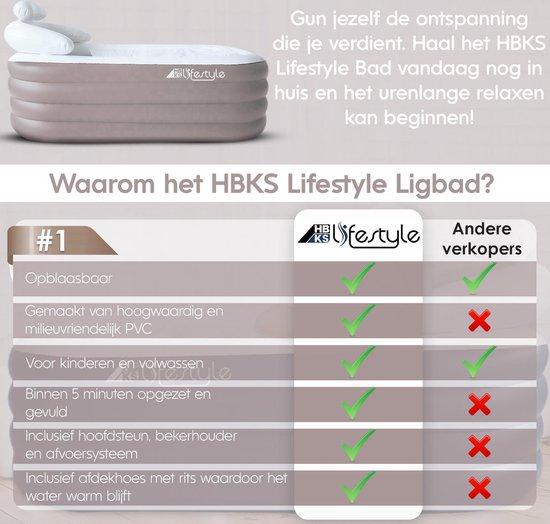 Opblaasbaar Ligbad Voor Volwassenen - Zitbad Voor Volwassenen - Voordelen HBKS Lifestyle - ZitBadXL.nl