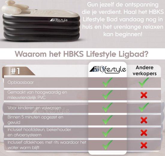 Opblaasbaar Ligbad Voor Volwassenen - Zitbad Voor Volwassenen zwart - Voordelen HBKS Lifestyle - ZitBadXL.nl