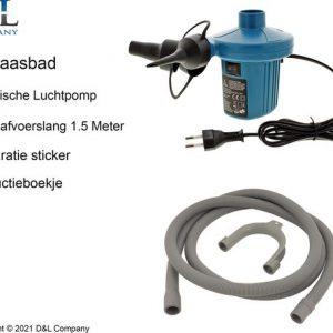 Opblaasbaar Ligbad voor thuis - Zitbad Voor Volwassenen - D&L opblaasbad afvoer - ZitBadXL.nl