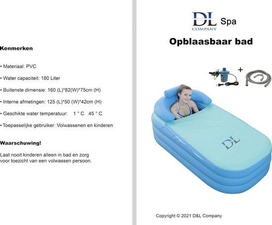 Opblaasbaar Ligbad voor thuis - Zitbad Voor Volwassenen - D&L opblaasbad volwassenen review - ZitBadXL.nl