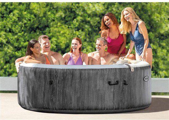 Opblaasbare Jacuzzi 6 personen - Opblaasbaar Hottub, Spa of Whirlpool - Zitbad voor volwassenen - www.ZitBadXL.nl
