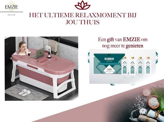 Emzie Opvouwbaar bad XL 133cm Roze - Bath bucket voor volwassenen – Luxe Ligbad – Opvouwbaar bad voor in douche - www.ZitBadXL.nl