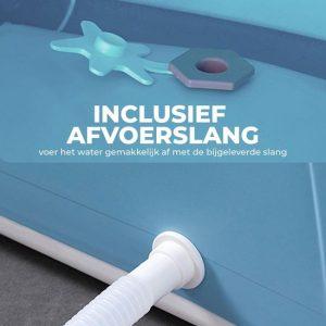 Foresta opvouwbaar bad voor volwassenen - met afvoerslang - Bath Bucket - www.ZitBadXL.nl