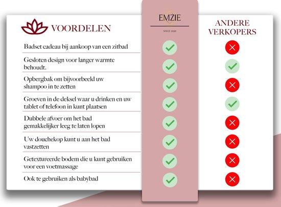 Voordelen Emzie Opvouwbaar bad XL 133cm Roze - Bath bucket voor volwassenen – – Opvouwbaar bad voor in douche - www.ZitBadXL.nl