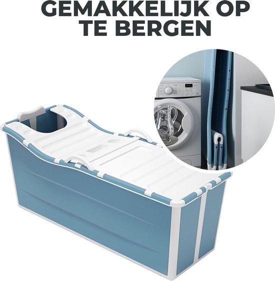 Foresta inklapbaar ligbad XL - ZitBad voor Volwassenen - bath Bucket 2.0 - opvouwbaar bad - opberg gemak - www.ZitBadXL.nl