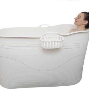HelloBath - Bath Bucket XL - 122 cm - flexibel zitbad voor volwassenen wit - www.ZitBadXL.nl