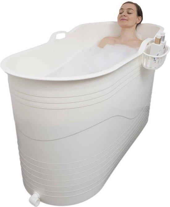 HelloBath - Bath Bucket XL - 122 cm - wit flexibel zitbad voor volwassenen - www.ZitBadXL.nl