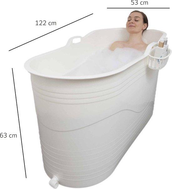 HelloBath - Bath Bucket XL - 122x63x53 - wit of zwart - flexibel zitbad voor volwassenen - www.ZitBadXL.nl