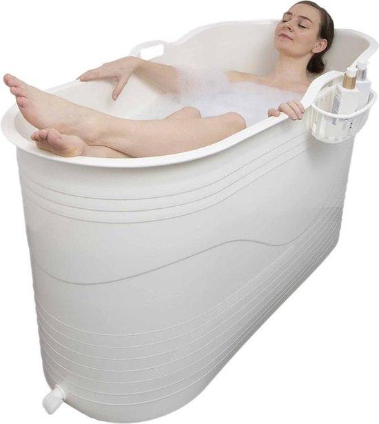 HelloBath - Bath Bucket XL - flexibel zitbad voor volwassenen wit - www.ZitBadXL.nl