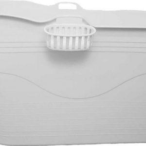 HelloBath - Bath Bucket XL - met mandje wit - flexibel zitbad voor volwassenen - www.ZitBadXL.nl