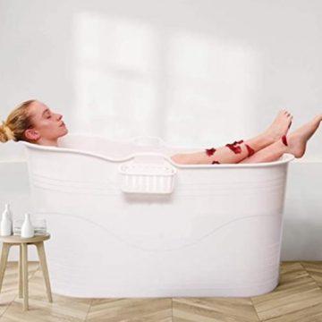 HelloBath - Bath Bucket XL wit - flexibel zitbad voor volwassenen - www.ZitBadXL.nl