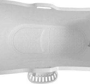 HelloBath - Bath Bucket XL wit - met mandje - flexibel zitbad voor volwassenen - www.ZitBadXL.nl