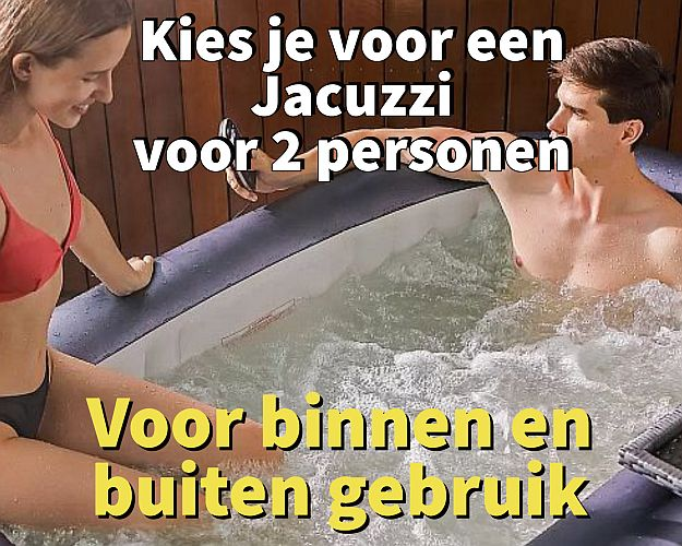 Kies je voor een Jacuzzi voor 2 personen - www.ZitBadXL.nl