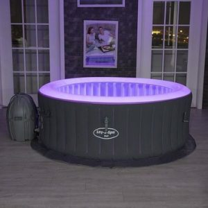 Lay-Z-Spa Jacuzzi ''Bali Airjet - opblaasbare hottub - bubbelbad - paarse led verlichting - www.ZitBadXL.nl