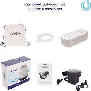 Spätter Opblaasbaar bad - Opblaasbaar ligbad, badkuip, Zitbad, Tubble accessoires - Opblaasbaar bad voor volwassenen- www.ZitBadXL.nl