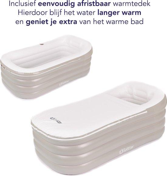 Spätter Opblaasbaar bad - Opblaasbaar ligbad, badkuip, Zitbad, Tubble afritsbaar zeil - Opblaasbaar bad voor volwassenen- www.ZitBadXL.nl