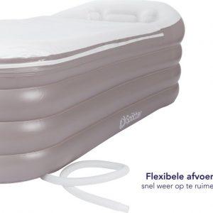 Spätter Opblaasbaar bad - Opblaasbaar ligbad, badkuip, Zitbad, Tubble flexibele afvoer- Opblaasbaar bad voor volwassenen- www.ZitBadXL.nl