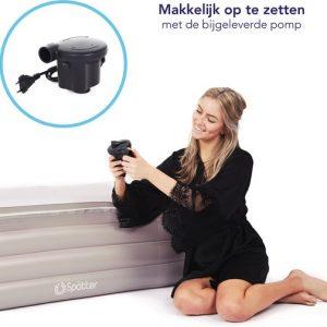 Spätter Opblaasbaar bad - Opblaasbaar ligbad, badkuip, Zitbad, Tubble met pomp - Opblaasbaar bad voor volwassenen- www.ZitBadXL.nl