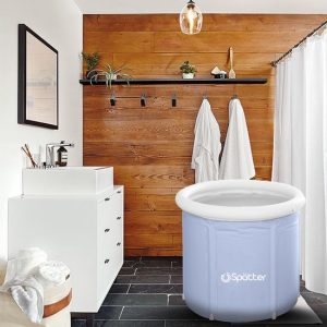 Spätter portable Zitbad - Relax ZitBad voor Volwassenen - opvouwbaar Bathtub, Tubble grijs - Bath Bucket - www.ZitBadXL.nl