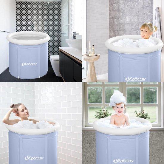 Spätter portable Zitbad - ZitBad voor Volwassenen - opvouwbaar Bathtub, Tubble grijs - Bath Bucket - www.ZitBadXL.nl