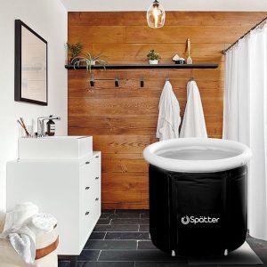 Spätter portable Zitbad - ZitBad voor Volwassenen - opvouwbaar Bathtub, Tubble zwart - In de badkamer - www.ZitBadXL.nl