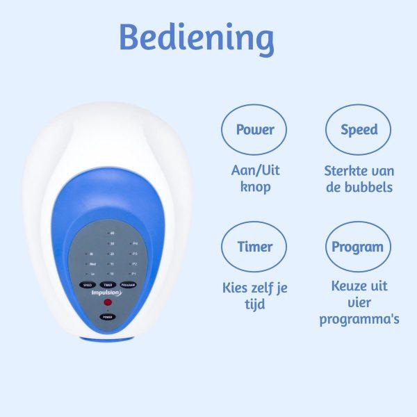 Bubbelbadmat Impulsion MH01 voor in een ZitBad - Bubbel in je zitbad met een draadloze afstandbediening - www.ZitBadXL.nl