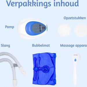 Bubbelbadmat Impulsion MH01 voor in een ZitBad - Bubbel op je eigen mat in je zitbad - inhoud - www.ZitBadXL.nl