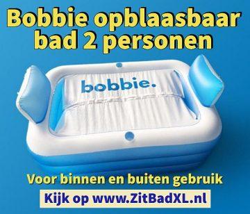 Bobbie opblaasbaar bad voor 2 personen - Opblaasbare ligbaden voor 2 personen - voor binnen en buiten gebruik - www.ZitBadXL.nl