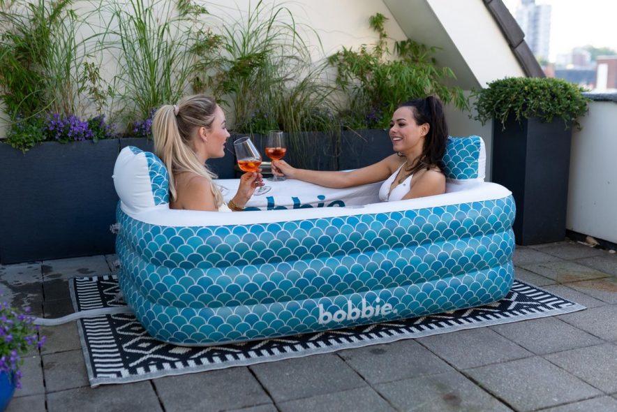 Bobbie opblaasbaar bad voor 2 personen - Opblaasbare ligbaden voor 2 personen - voor binnen en buiten - www.ZitBadXL.nl