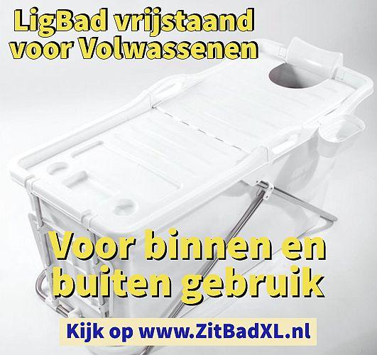 Ligbad vrijstaand voor volwassenen - Zitbad voor Volwassenen - Zitbad XL kopen - www.ZitBadXL.nl