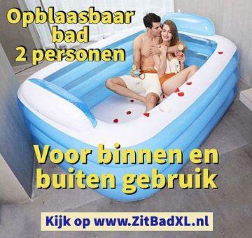 Opblaasbaar bad voor 2 personen - Opblaasbare ligbaden voor 2 personen - voor binnen en buiten gebruik - www.ZitBadXL.nl
