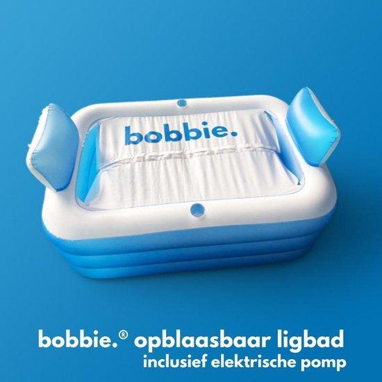 Bobbie - Opblaasbaar ligbad inclusief Elektrische Pomp - 150 x 105 x 70 cm - voor 2 personen - geschikt voor binnen en buiten - www.ZitBadXL.nl